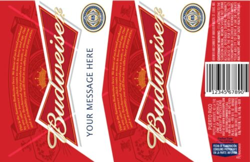 BUD beer edible icing cake topper can be personalised BUDWEISER