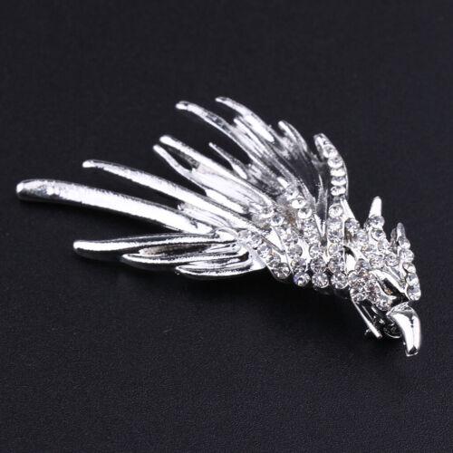 Crystal Eagle Broche Lapel Pins Chemise Pince à Cravate Col Fête De Mariage Broche