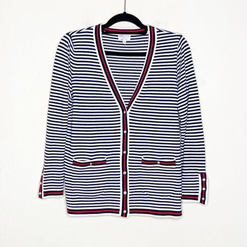 Talbots Oprah Magazine Collection Stripe Cardigan