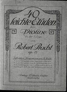 Robert-Pracht-40-leichte-Etueden-fuer-Violine-Op-15