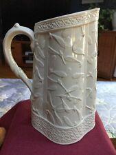 Antique Brownfield & Sons Mistletoe 12 Jug Or Pitcher Relief Moulded