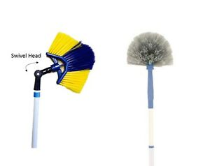 Cobweb Brush Long Reach Cleaning Cob Web Broom Extending