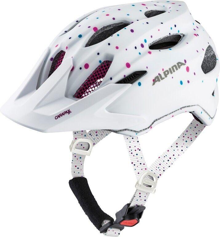 Alpina Carapax JR Kinder-Fahrradhelm     white polka dots  discount sale