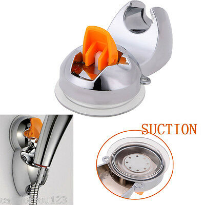 Practical Adjustable Sucker Shower Head Stand Suction Bracket Holder Bathroom