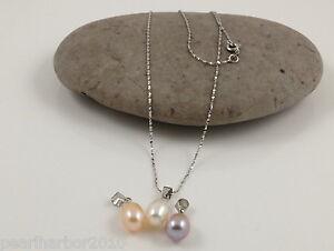 Fine Cultured Freshwater Teadrrop Pearl Pendant & Sterling Silver Chain 18''