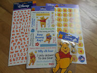 Disney Pooh Alphabet & Phrase Scrapbooking Sticker Set Of 4