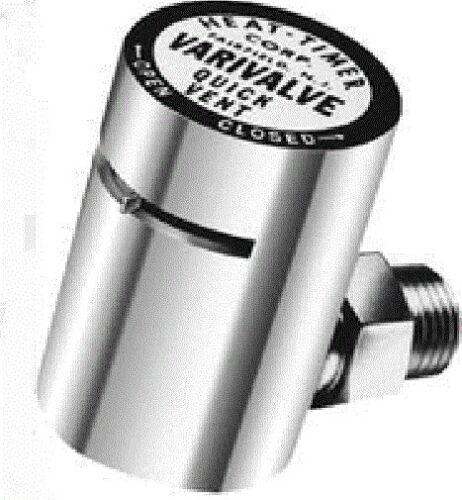 "HEAT-TIMER VARIVALVE Radiator Air Vent Valve 1//8/"" ANGLE"