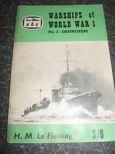 Details about Warships of World War I No 3 DESTROYERS H M Le Fleming