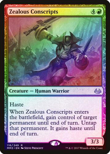 Zealous Conscripts FOIL Modern Masters 2017 NM Red Rare MAGIC CARD ABUGames