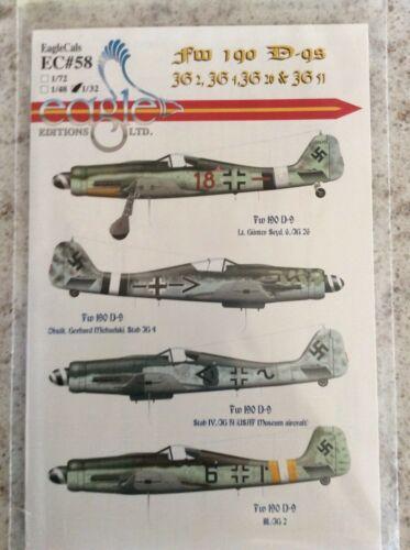 EagleCals  1//32 #58 Fw 190 D-gs