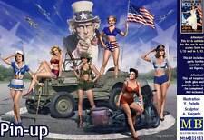 Masterbox - Pin-up Girls Frauen 6 Figuren 1:32 & 1:35 Modell-Bausatz NEU USA kit