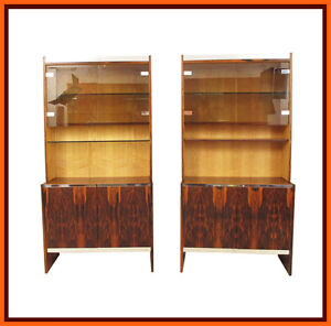 70s 1970s retro MERROW ASSOCIATES ROSEWOOD BOOKCASE