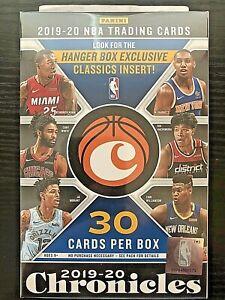 2019-20 Panini Chronicles Basketball Hanger Box ZION WILLIAMSON JA MORANT prizm