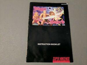 Instructions-Manual-Booklet-Magic-Sword-Super-Nintendo-SNES-RARE-Capcom
