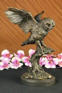 French-Bronze-Casting-Barn-Owls-Owl-Birds-Bird-Hot-Cast-Wildlife-Sculpture-Decor