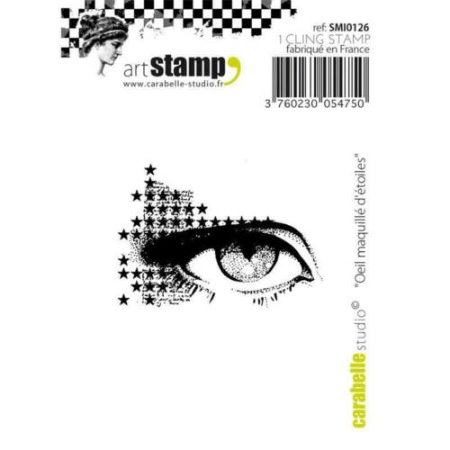 Carabelle Studio Star Makeup Eye SMI0126 Cling Stamp oeil maquille d/'etoiles