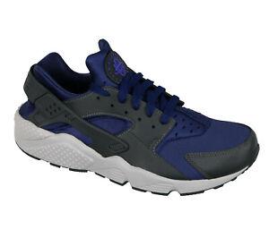 Détails sur Nike Air Huarache Chaussures Course Sz 9.5 Binaire Bleu Primordial Anthracite