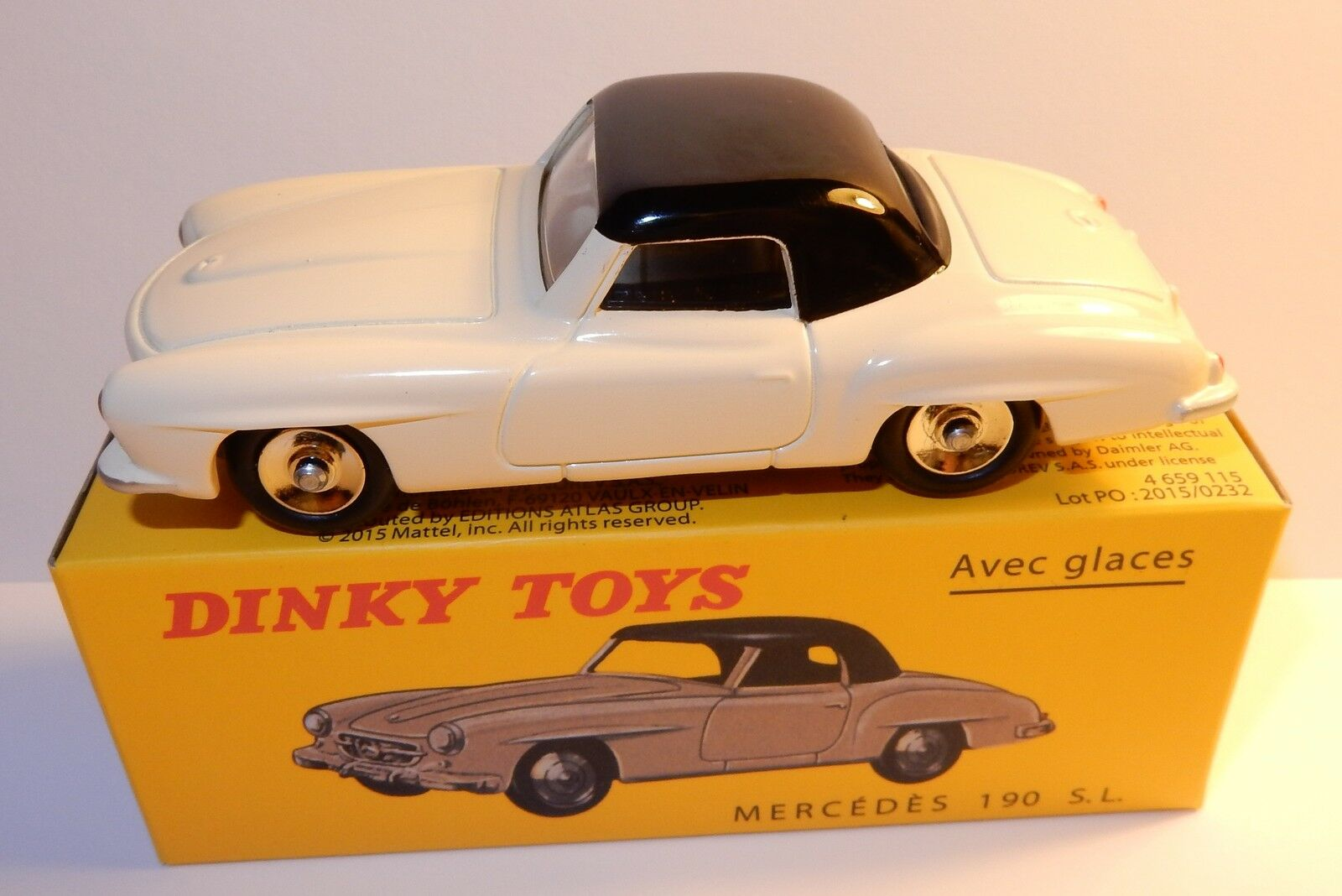 Available dinky toys atlas mercedes 190 sl coupe bicolor 1 43 ref 526 in box
