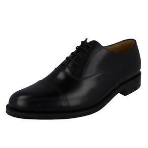 Hommes Main En Cuir Poli Noir Chaussures 'Elland' w7r4wS1xq