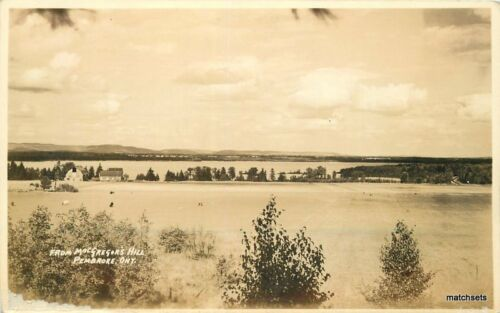 1920s Pembrook Ontario Canada MacGregor's Hill RPPC real photo postcard 8268
