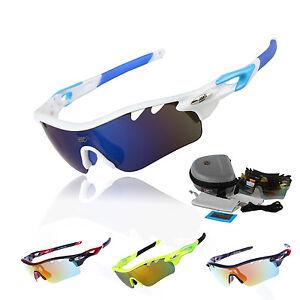 2e49e0fe96b EOC Pro Polarized Cycling Glasses Bike MTB Sports Sunglasses 5 Lens ...