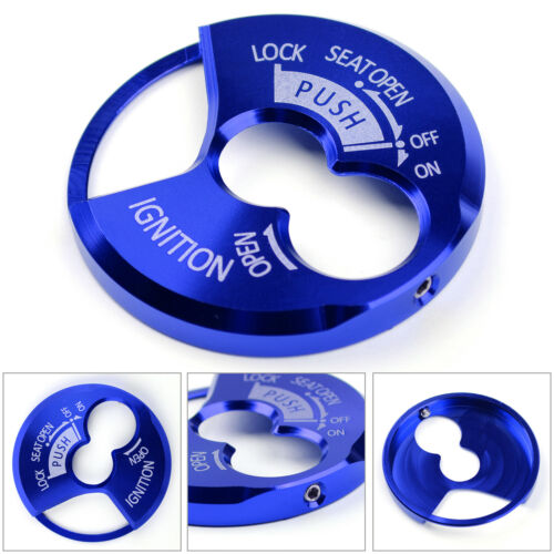 CNC Ignition Switch Keyhole Cover For Yamaha Tricity 125 155 2014-17 Blue T3