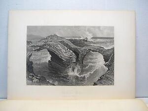 ROCKS-AT-ROSS-IRELAND-Steel-Engraving-by-Harry-Fenn-1800-039-s