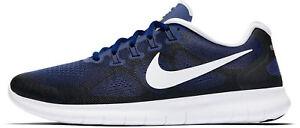 Detalles acerca de Para Hombres Zapatos 2017 NIKE FREE RN Azul Blanco Negro Volt 880839 405 mostrar título original