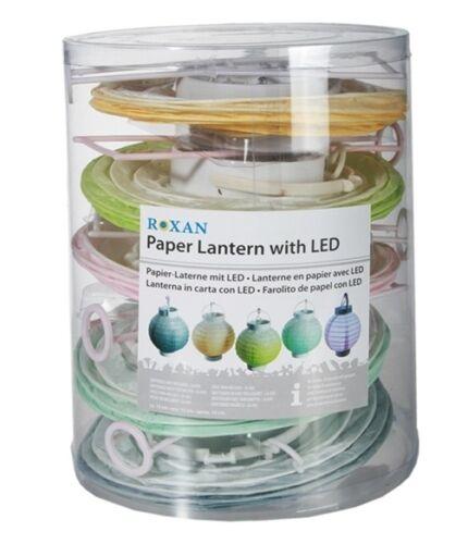 LED Papier Lampion 15 cm Lampe Gartenlampe Partylampe Laterne Reispapier 5er-Set