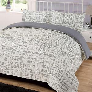 Buchstabe Presse Quilt Cover Mit Kissenbezug Bettwäsche Set Modern