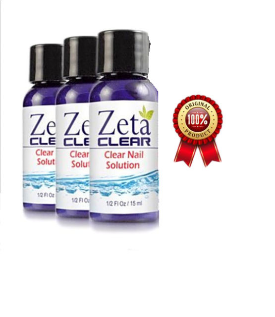 Zetaclear Natural Safe Nail Fungus Treatment Remedy Solution 5 Pc