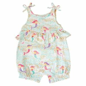 Mud Pie Baby Girl One Piece Outfit Mermaid Print Bubble Size 9 12 Months New Ebay