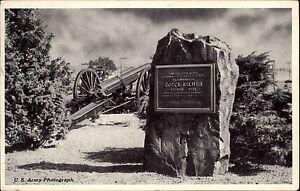 Camp-Kilmer-New-Jersey-USA-Stamp-AK-1953-Memorial-Tablet-honoring-Joyce-Kilmer
