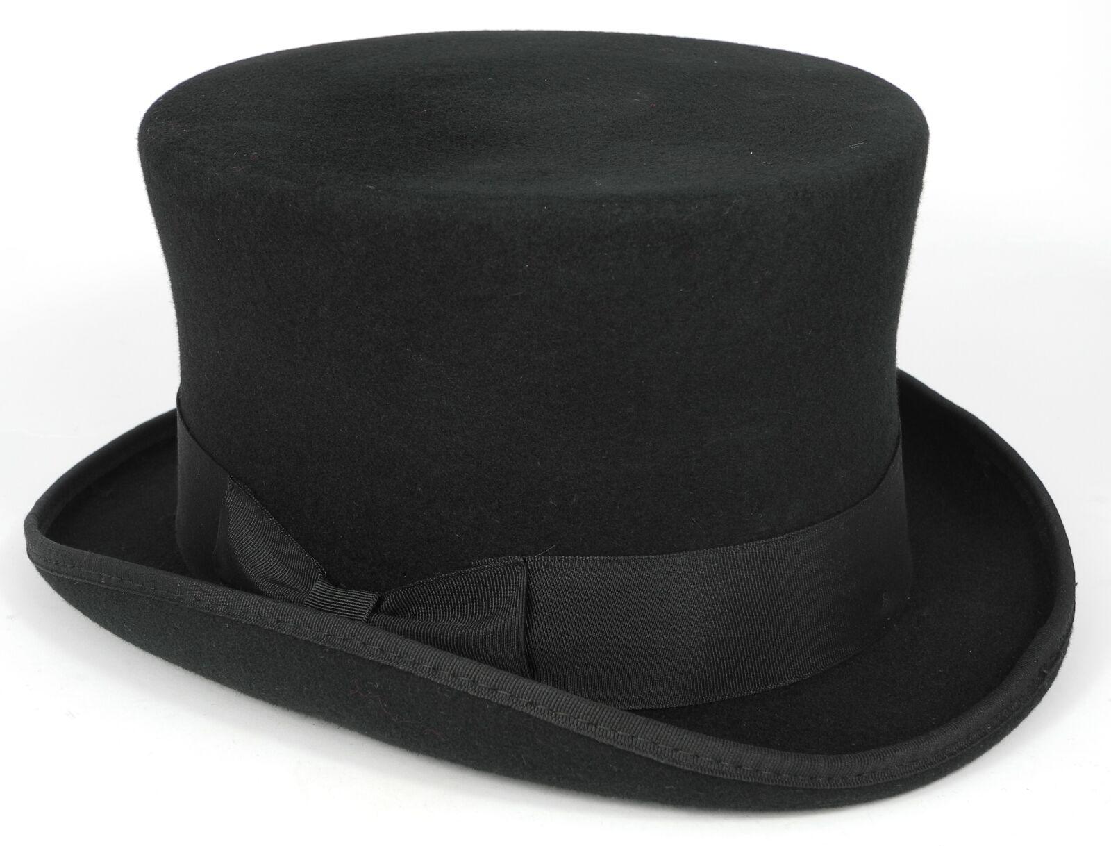 Major Wear Official Stiff Stiff Stiff Top Hut schwarz Wollfilz 5 Größen fast post | Trendy  58a976