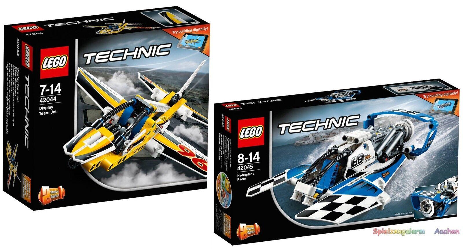 LEGO TECHNIC set 42044 42045 avion à réaction renngleitdémarrage  very rare n1 16  meilleur service