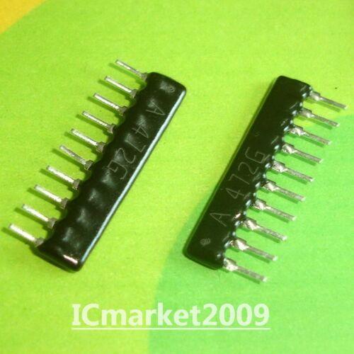 50 piezas A10-472G 4.7K Ohm 4.7KR 4K7 9 commoned arreglo de 10 Pines de Red de resistencia