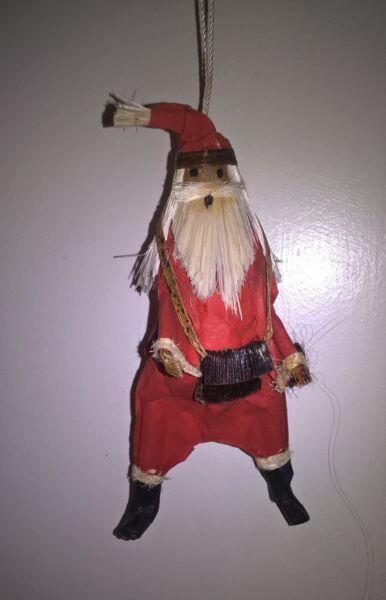 100% Vero Fatto A Mano Santa (5 Pollici) Albero Di Natale Decorazione