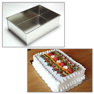 Astounding Single Rectangle Birthday Cake Tin 8 Ebay Funny Birthday Cards Online Inifofree Goldxyz