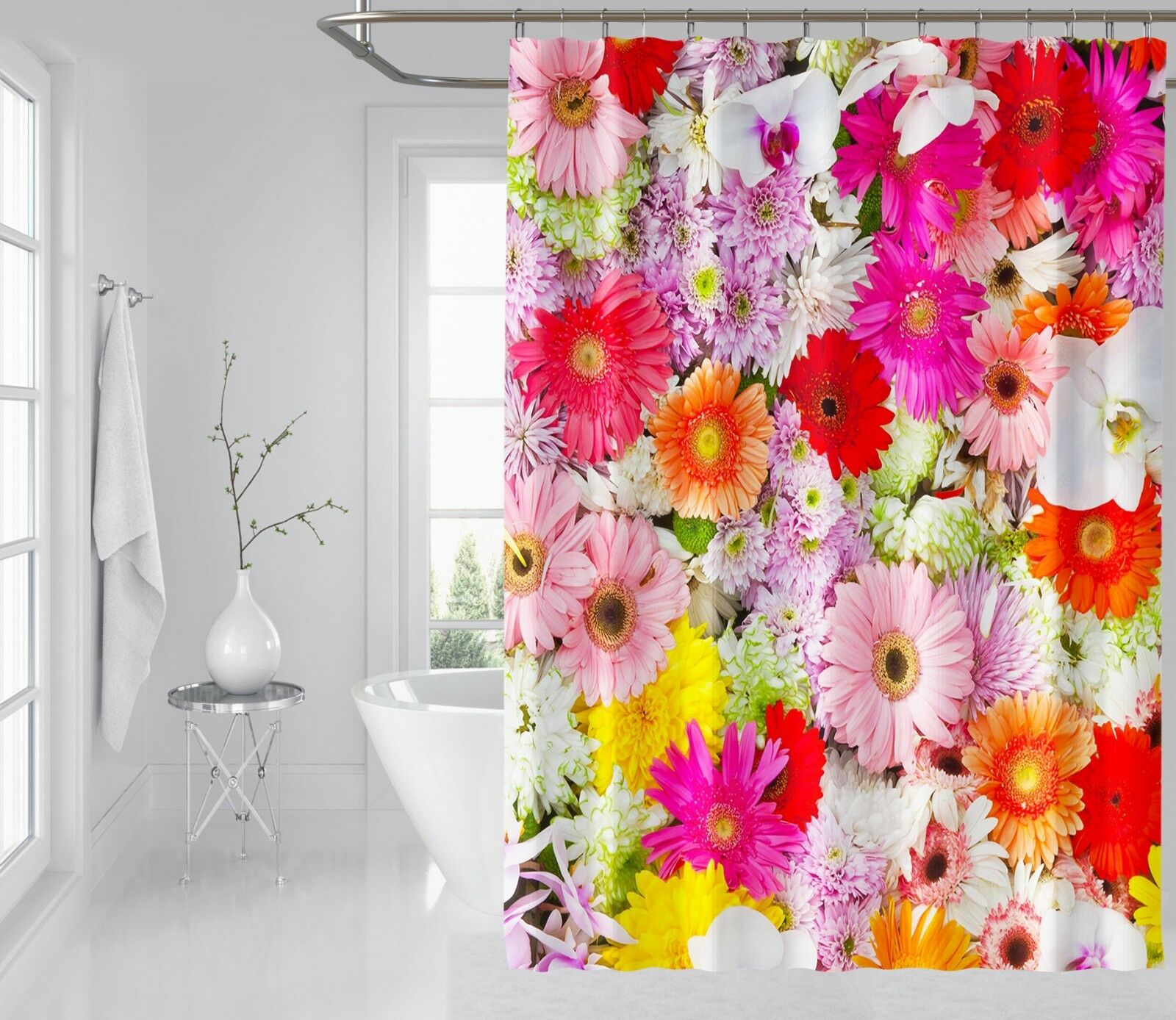3D ColGoldt Flower 1 Shower Curtain Waterproof Fiber Bathroom Bathroom Bathroom Home Windows Toilet 62acc8
