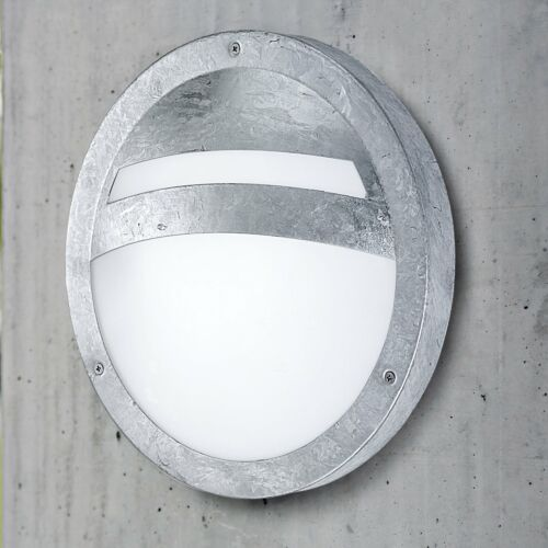 Eglo Sevilla all/'aperto IP44 in acciaio zincato Round Luce Muro