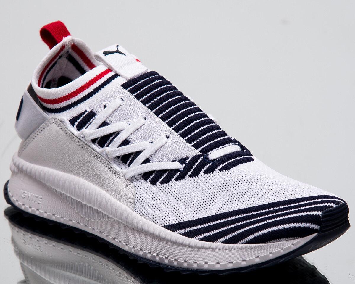 Puma TSUGI Jun Sport Stripes Men New White Red Lifestyle Sneakers 367519-01