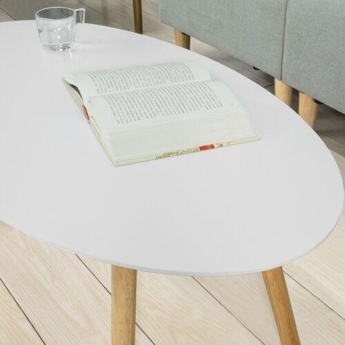 FBT61-W SoBuy®  Couchtisch mit Holzbeinen Wohnzimmertisch Sofatisch weiß