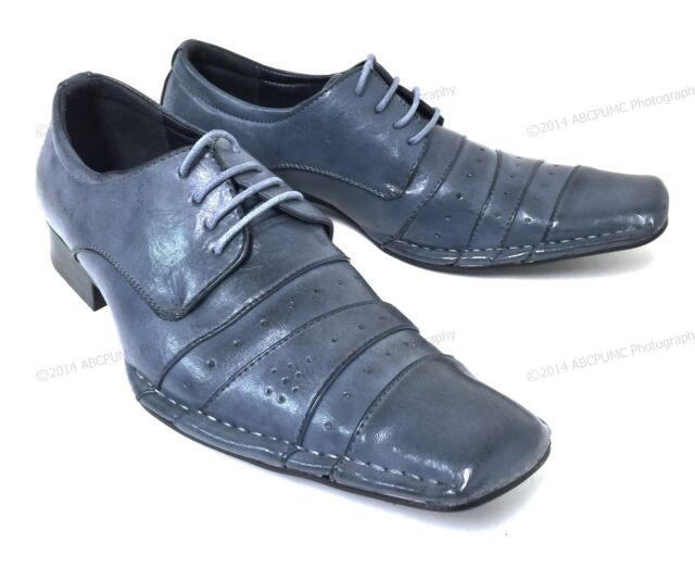 Men's Pleated Dress Shoes Italian Style Casual Lace up Tapered Toe Fashion Sizes