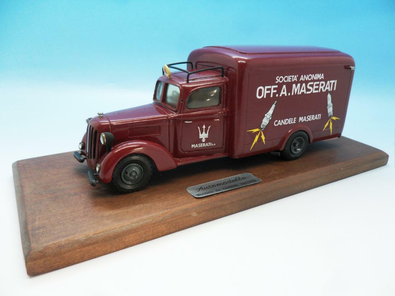 BARNINI FIRENZE RESIN BUILT FIAT 621 SCUDERIA MASERATI TRANSPORTER 1934 1 43
