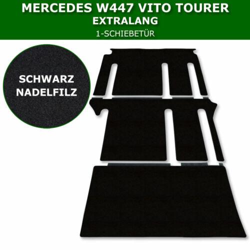 Satz Fußmatten Passend für Mercedes Vito Tourer W447 Extralang 1-Schiebetür S