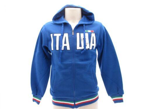 Felpa turistica full zip con cappuccio Uomo TUITAF1.BR Italia Tricolore ultras