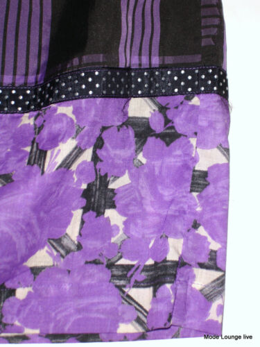 M 38 Jupe Honor Noa Wyville Neuf Violet Noir Viscose gE6Sqnqw