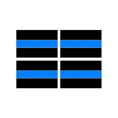 Window Bumper Laptop Stickers Police Sheet of 4 3pc Thin Blue Line Decal