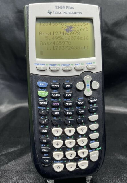 Texas Instruments TI-84 Plus Graphing Calculator - Black ~ Tested And Working