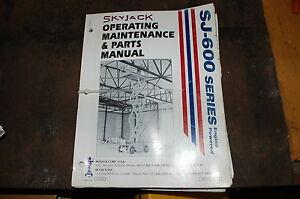 skyjack scissor lift wiring diagram diagram skyjack sj 6000 scissor lift parts operator maintenance owner